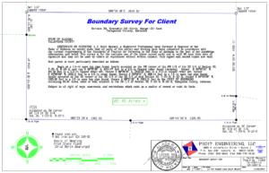 boundary survey drawing